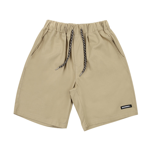 [BASEMOMENT] Chino Half Pants - Beige