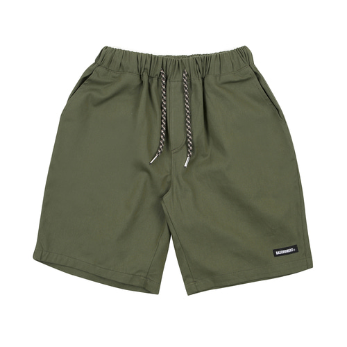 [BASEMOMENT] Chino Half Pants - Khaki