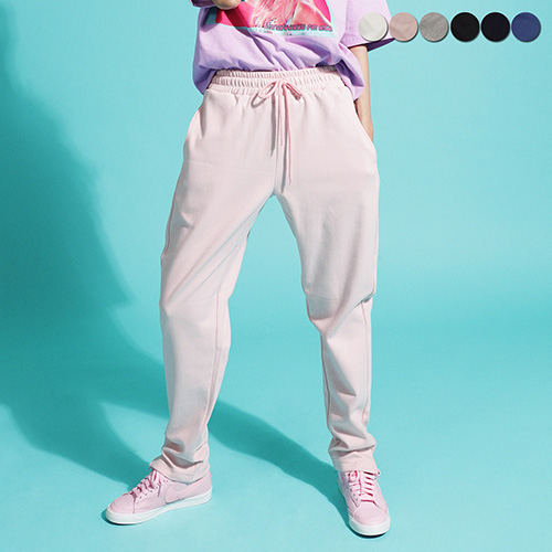 [GINGHAMBUS]Mini Slit Sweat Pants (6color)(unisex)