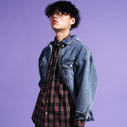 [GINGHAMBUS]Grunge Over Denim Jacket(unisex)