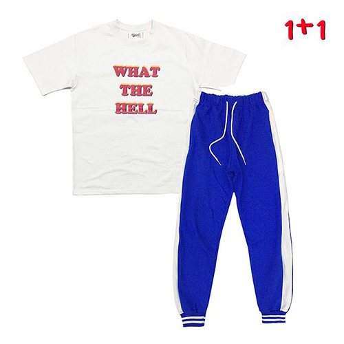 [GINGHAMBUS][1+1]What the hell T-shirt+GBB Flag Jogger Pants