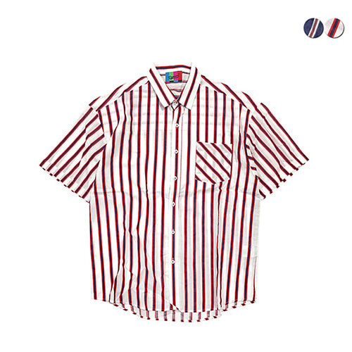 [GINGHAMBUS]Ivy Linen Stripe Shirt(2color)(unisex)