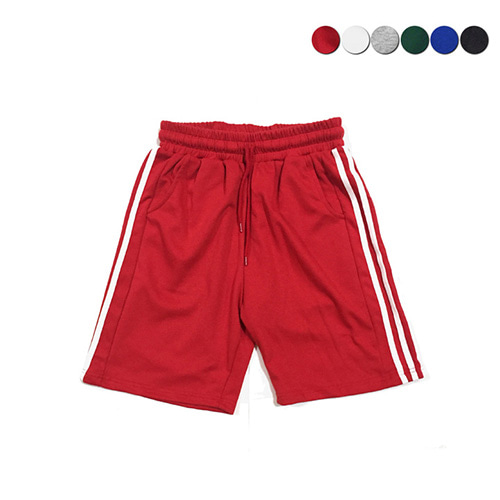 [GINGHAMBUS]Side Panel Striped Track Shorts(6color)(unisex)