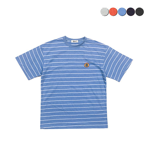 [GINGHAMBUS]G Stripe Half Sleeve T-shirt(5color)(unisex)