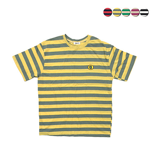 [GINGHAMBUS]G Fruity Stripe T-shirt(5color)(unisex)