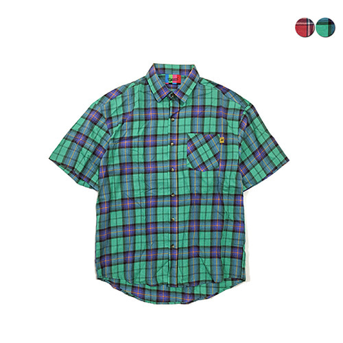 [GINGHAMBUS]Light Tartan Check Shirt(2color)(unisex)