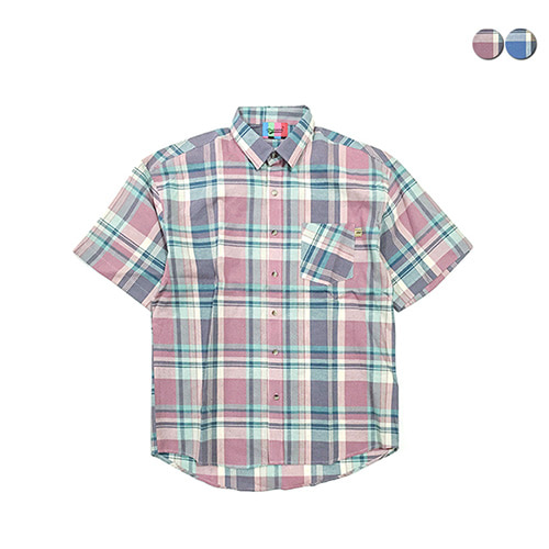 [GINGHAMBUS]Dawn Madras Check Shirt(2color)(unisex)