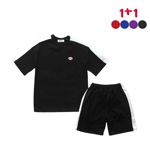 [GINGHAMBUS][1+1]Plan B T-shirt+Plan B Track Shorts
