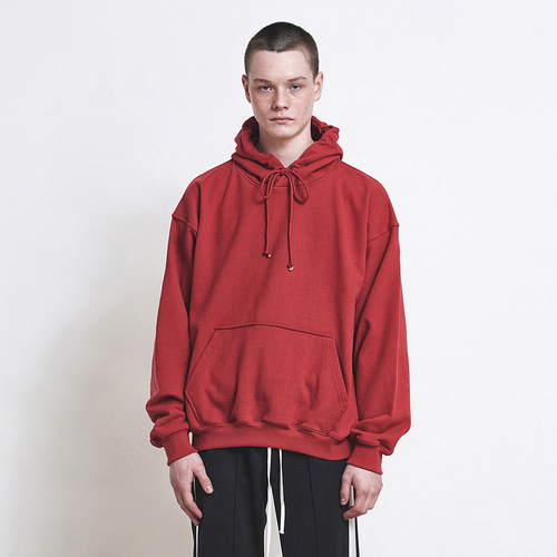 [D.PRIQUE] Oversized Hoodie Red (d18st052)