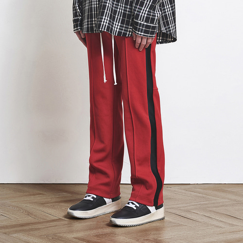 [D.PRIQUE] Track Pants Red+Black (d18sb033)