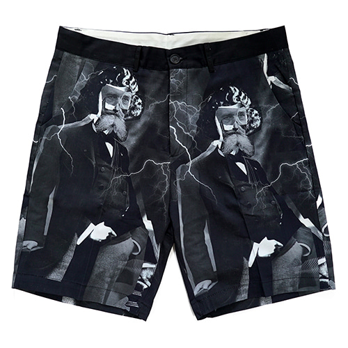 [18SS] MADNESS PRINT SHORTS - BLACK