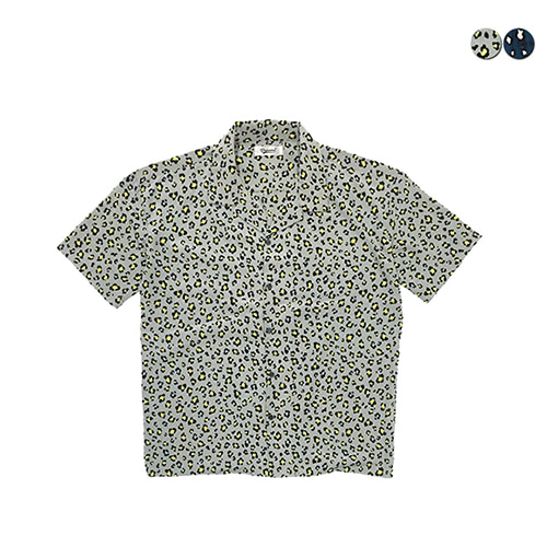 [GINGHAMBUS]Leopard Overfit Open Shirts(2color)(unisex)