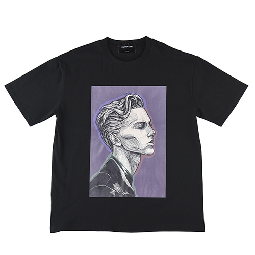 [WANTON] SUBJECT TSHIRTS BLACK