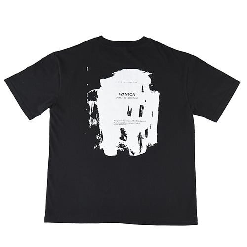 [WANTON] PAINT TSHIRTS BLACK