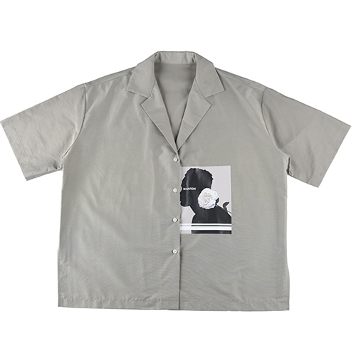 [WANTON] FLOWER SHIRTS GREY