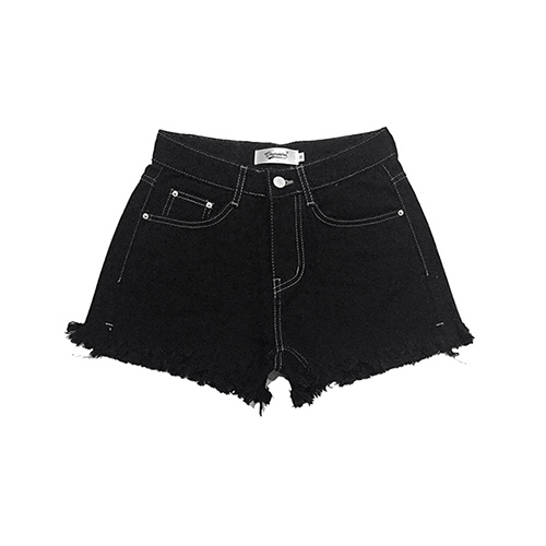 [GINGHAMBUS]Vintage Fringe Cotton Shorts