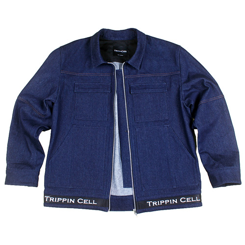 [Trippin CeLL] New Tripping Denim JK (dark blue)