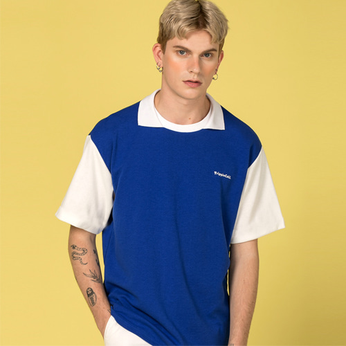 [Trippin CeLL] Mine Collar Tee (blue)