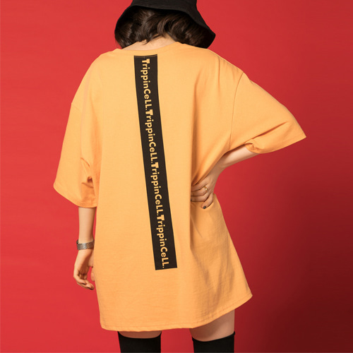 [Trippin CeLL] Signature Tee (orange)