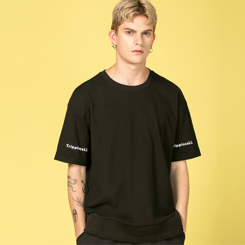 [Trippin CeLL] Under Mesh Tee (black)