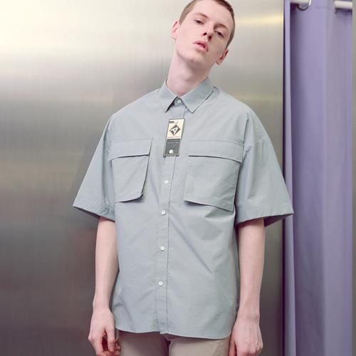[언아웃핏]UNISEX TWO POCKET SHIRTS MINT