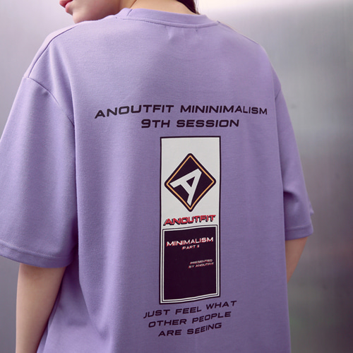 [언아웃핏]UNISEX A-LOGO T-SHIRTS PURPLE