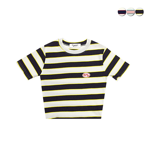 [GINGHAMBUS]Mini Striped Crop Top(3color)