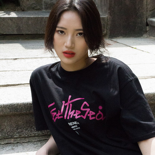 [레베니아] Feel The Sea T-shirt_Black