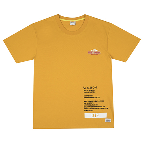 [HOUNDVILLE] WOODS TOUR t-shirt yellow