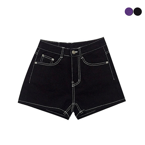 [GINGHAMBUS]STITCH HIGH SHORTS(2color)