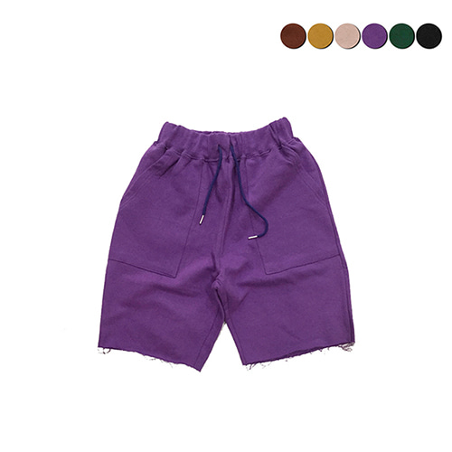 [GINGHAMBUS]CUT-OFF SWEAT SHORTS(6color)(unisex)