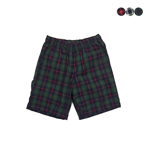 [GINGHAMBUS]TARTAN CHECK SHORTS(3color)(unisex)
