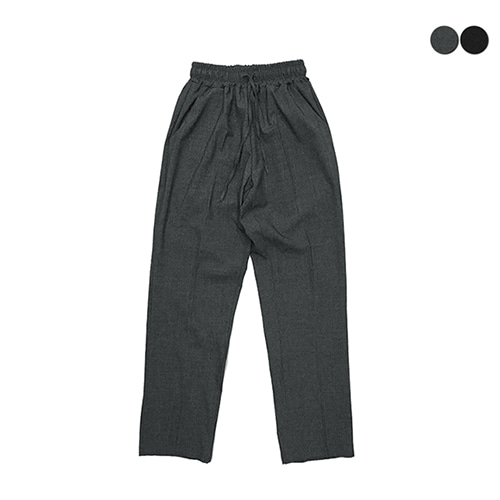 [GINGHAMBUS]STANDARD-FIT BANDING SLACKS(2color)