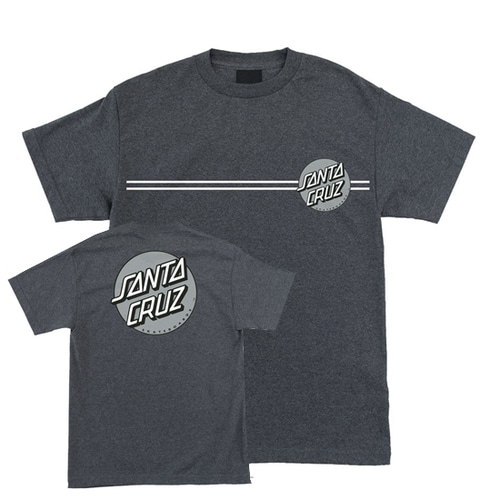 [SANTA CRUZ] Other Dot Tee - Charcoal Heather/Silver