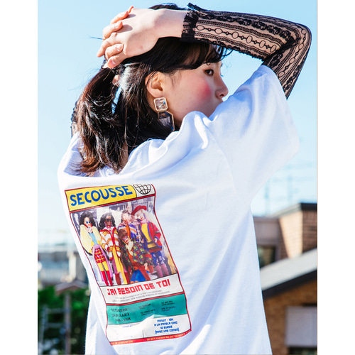 [199XKIDS] BARBIE POSTER T-SHIRTS (WHITE)