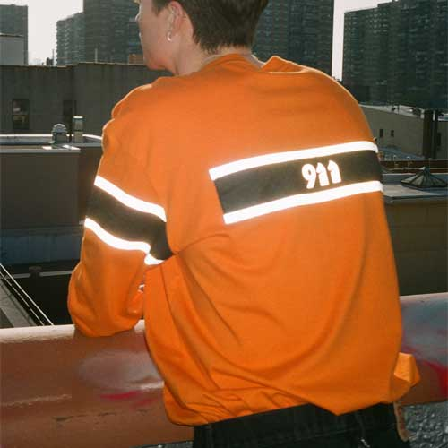 [KILIJARO]911 LONG SLEEVE TEE - ORANGE