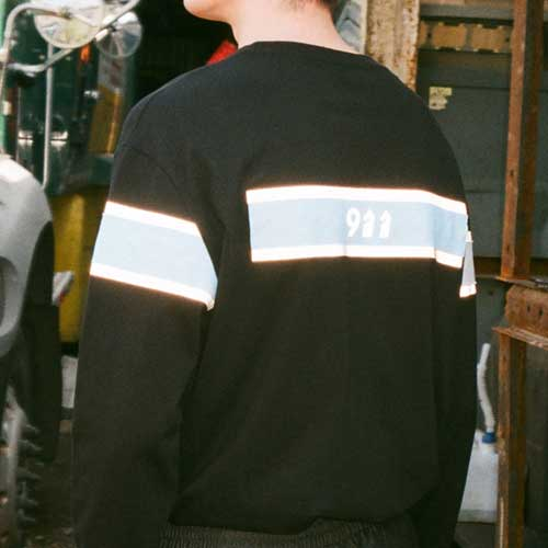 [KILIJARO]911 LONG SLEEVE TEE - BLACK