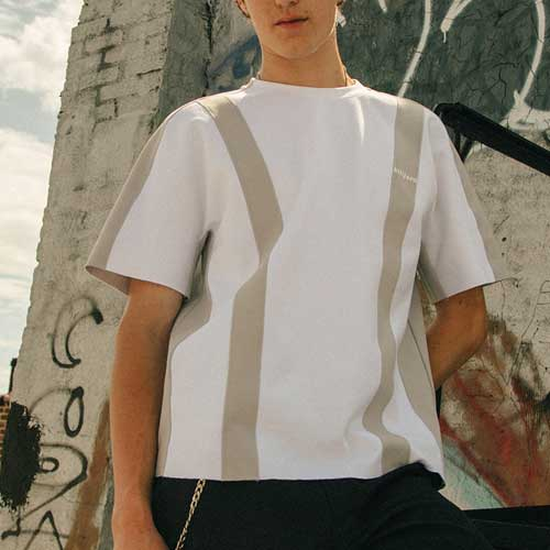 [KILIJARO]COLOR CONTRAST TEE - WHITE