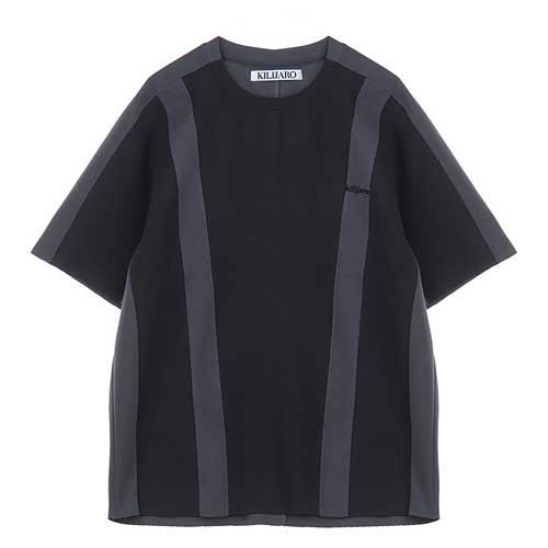 [KILIJARO]COLOR CONTRAST TEE - BLACK