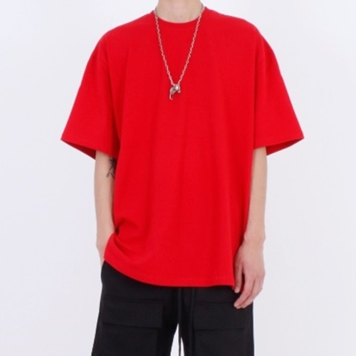 [Nar_Yoke] Overfit T-Shirt - Red