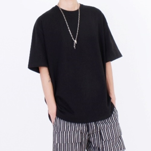 [Nar_Yoke] Overfit T-Shirt - Black