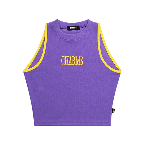 [CHARM'S] LOGO SLEEVELESS TOP - PU