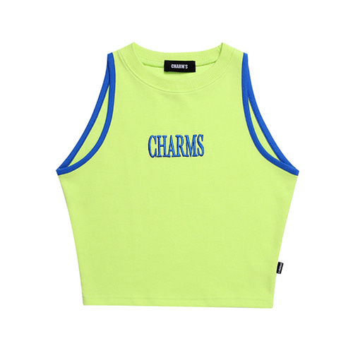 [CHARM'S] LOGO SLEEVELESS TOP - YG