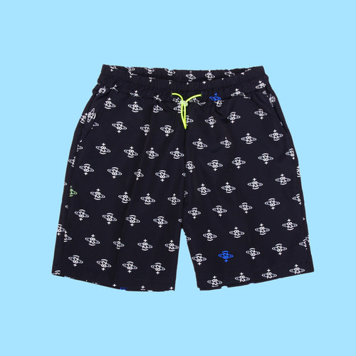 [DUCKDIVE] +82 ALL LOGO SHORT PANTS_BLACK
