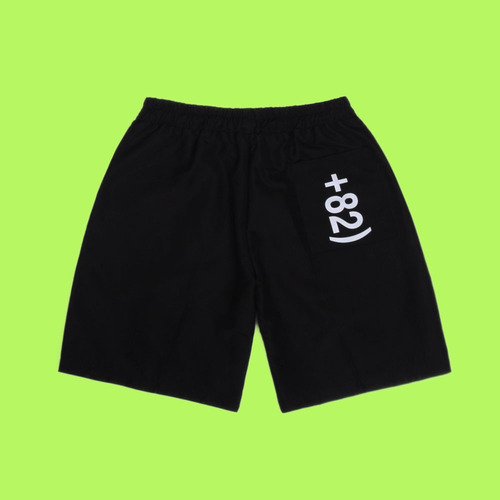 [DUCKDIVE]+82 LOGO SHORT PANTS_BLACK