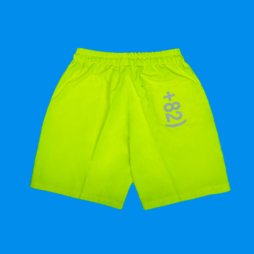 [DUCKDIVE] +82 LOGO SHORT PANTS_NEON