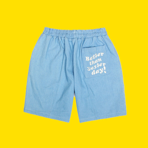 [DUCKDIVE] DENIM SHORT PANTS_SKY BLUE
