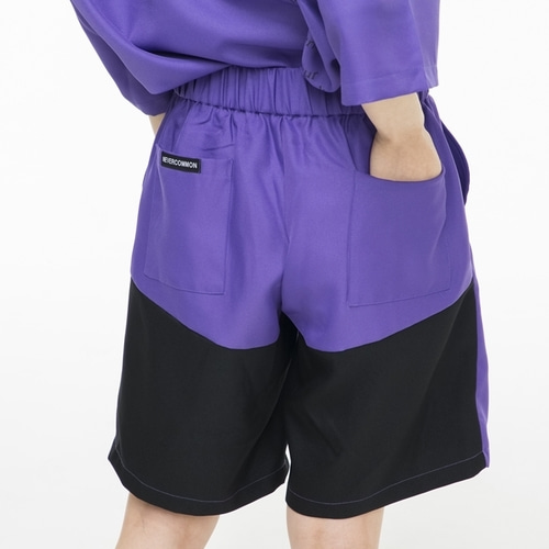 [NEVERCOMMON] Half Pants (purple/black)