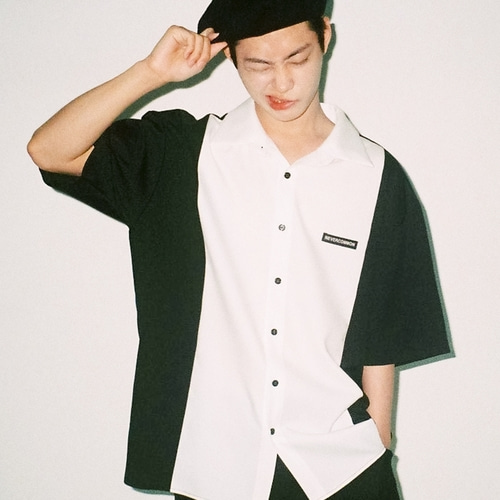 [NEVERCOMMON] Half Shirt (black/white)