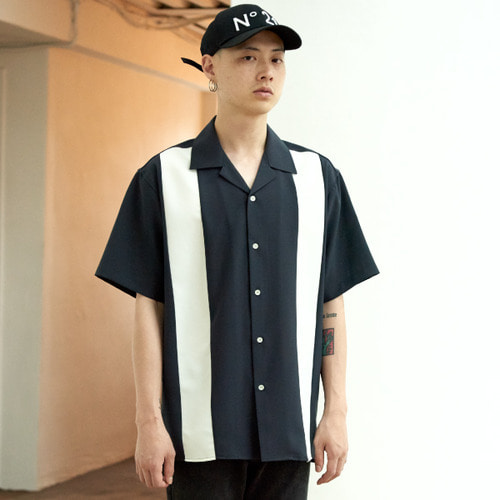 [NOT N NOT]BOWLING OPEN COLLAR SHIRTS - CHARCOAL